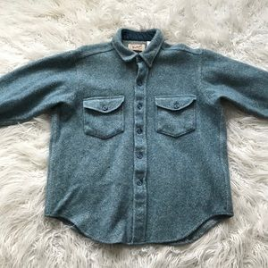 Vintage Woolrich Blue-White Heather Striped Shirt